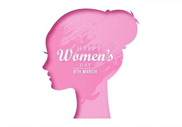 Conception de cartes de concept de fête des femmes heureux