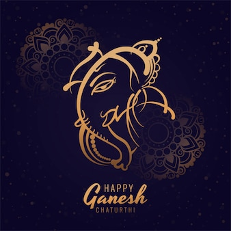 Conception de cartes de dessin animé artistique joyeux festival de ganesh chaturthi