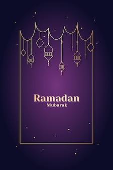 Conception de cartes encadrées ramadan