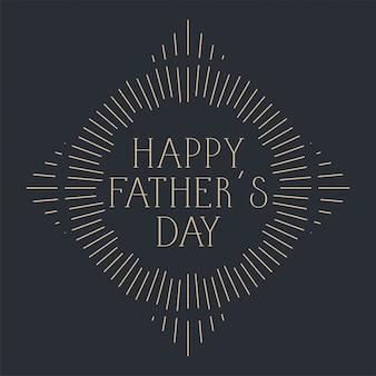 Conception de cartes de fête des pères heureux