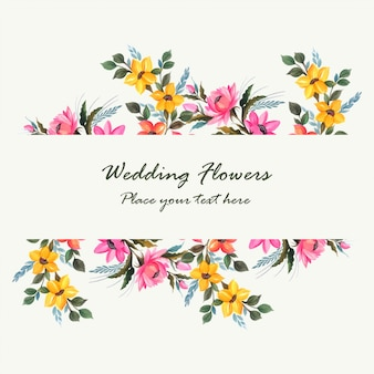 Conception de cartes de fleurs décoratives invitation de mariage