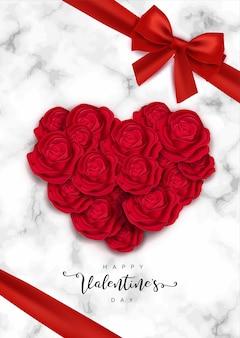 Conception de cartes happy valentines