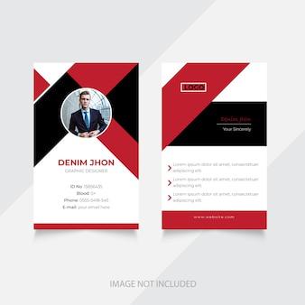 Conception de cartes d'identité d'entreprise