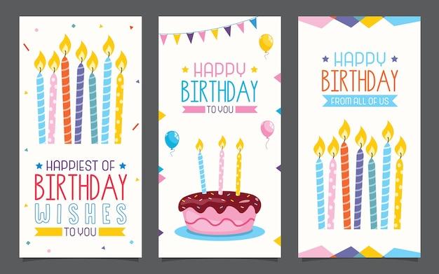 Conception de cartes d'invitation de birhday