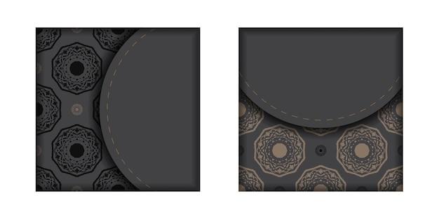 Conception de cartes d'invitation avec un espace pour votre texte et vos motifs vintage. conception de carte postale grisée