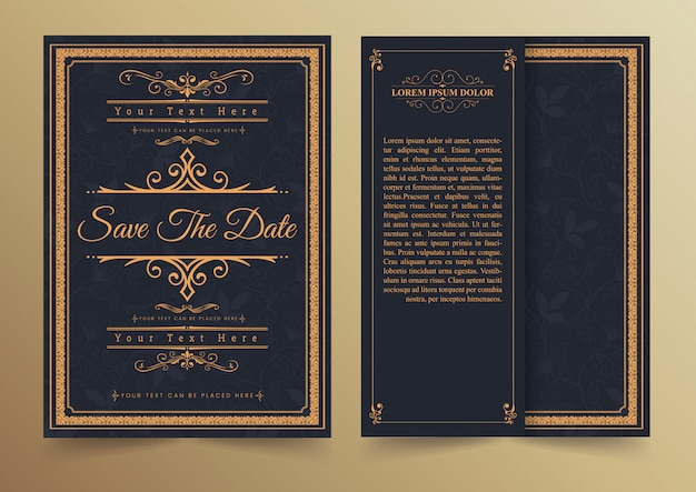 Conception de cartes d'invitation - style vintage