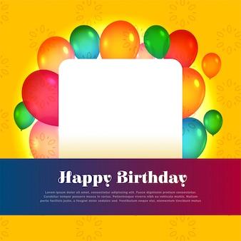 Conception de cartes de joyeux anniversaire avec espace de texte