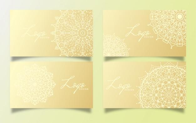 Conception de cartes de luxe avec mandala