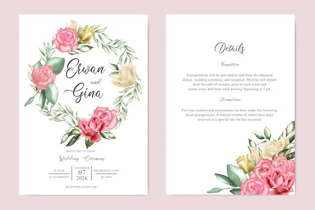 Conception de cartes modèle invitation aquarelle floral