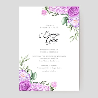 Conception de cartes modèle invitation mariage aquarelle
