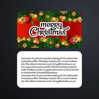 Conception de cartes de noël avec un design élégant