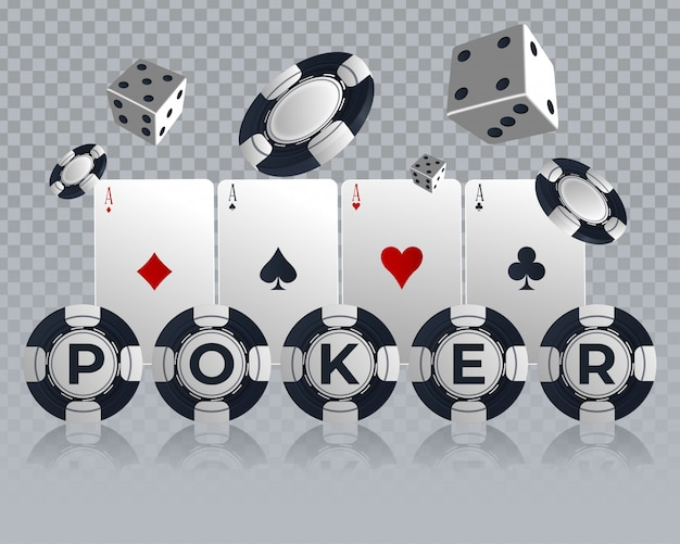 Conception de cartes de poker casino