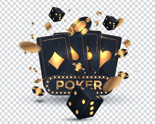 Conception de cartes de poker de casino