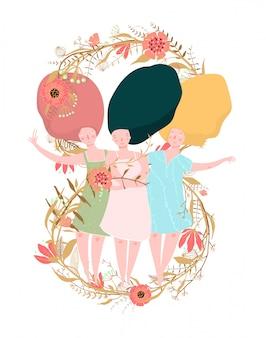 Conception de cartes pour la journée internationale de la femme