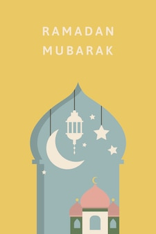 Conception de cartes ramadan mubarak