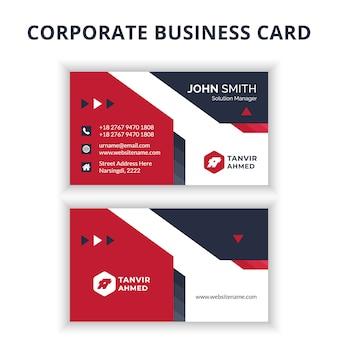 Conception de cartes de visite d'entreprise