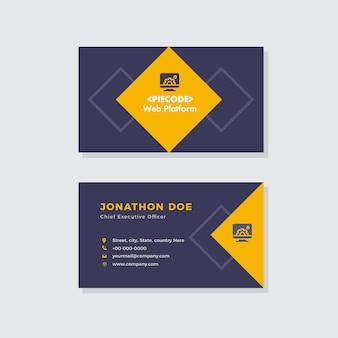Conception de cartes de visite pour agences créatives