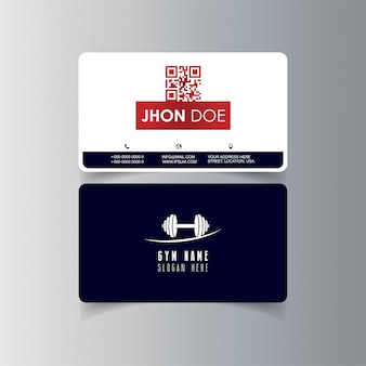 Conception de cartes de visite avec vecteur de logo de gym