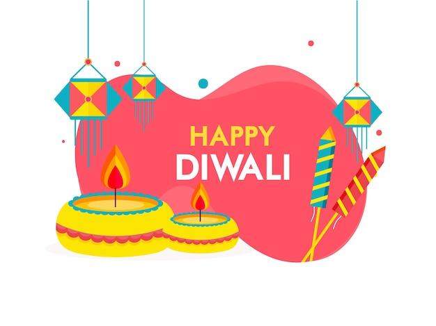 Conception de cartes de voeux happy diwali