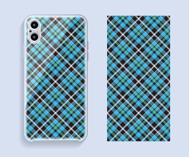 Conception de cas de smartphone. motif géométrique pour la partie arrière du téléphone portable. design plat.