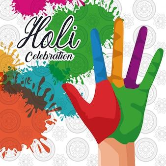 Conception de célébration holi