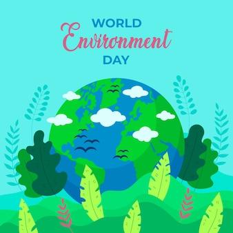 Conception de célébration de la journée mondiale de l'environnement