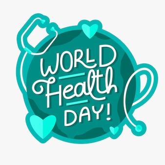 Conception de célébration de la journée mondiale de la santé