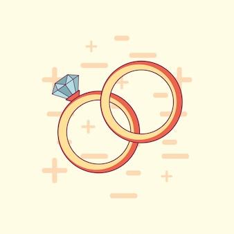 Conception de célébration de mariage