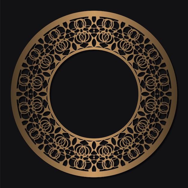Conception de cercle de modèle d'ornement de luxe