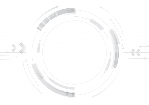Conception de cercle de technologie abstraite sur fond blanc