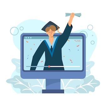 Conception de cérémonie de remise des diplômes virtuelle