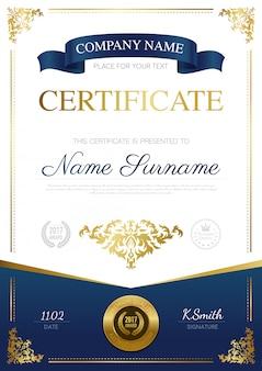 Conception de certificat élégant