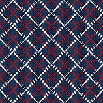 Conception de chandail tricoté. modèle sans couture
