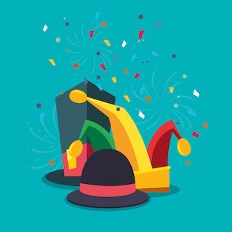 Conception de chapeaux de carnaval