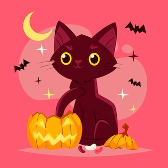 Conception de chat festival halloween