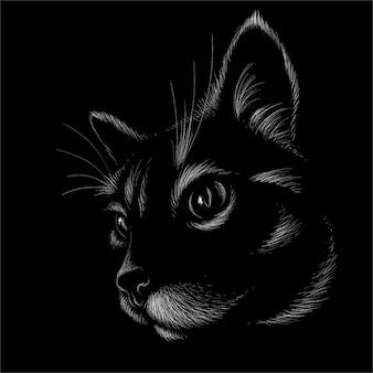 Conception de chat noir.