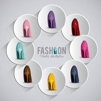 Conception de chaussures pour femmes de la mode