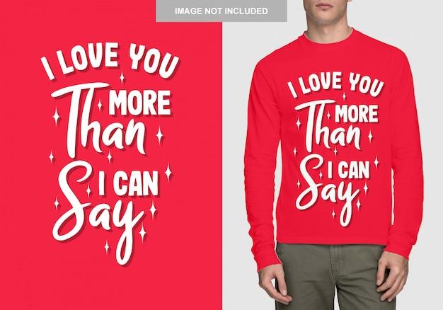 Conception de chemise de lettrage. typographie romantique