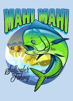 Conception de chemise de pêche mahi mahi