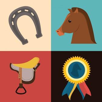 Conception de cheval.