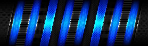 Conception de chevauchement de lumière bleue brillante