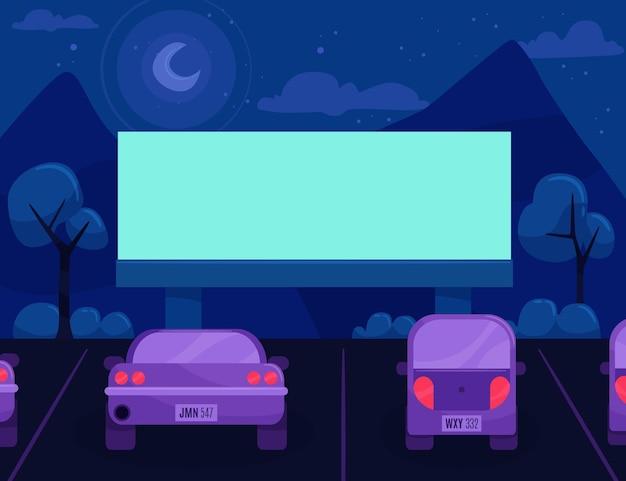 Conception de cinéma drive-in