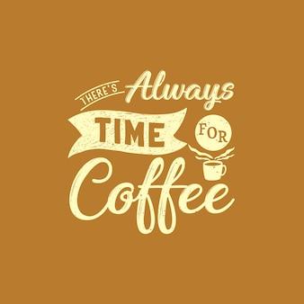 Conception de citations de café
