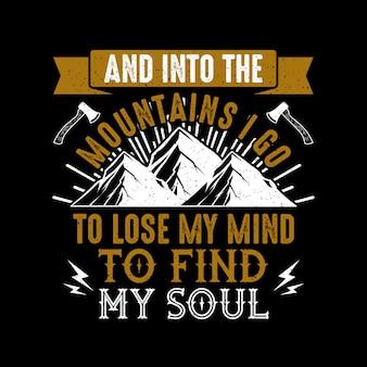 Conception de citations de motivation de montagne