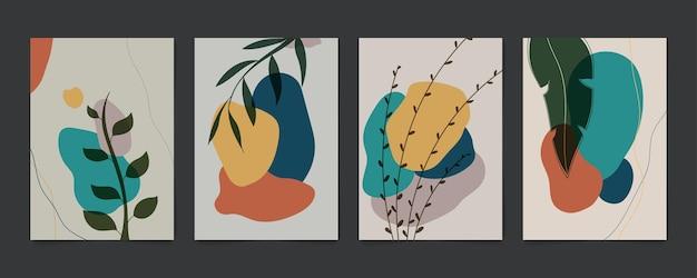 Conception classique tendance abstraite du modèle d'art rétro. cartes à dessiner