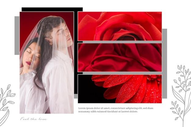 Conception de collage de photos