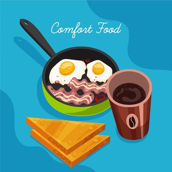 Conception de collecte de nourriture de confort