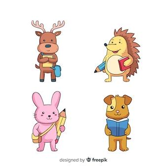 Conception de collection d'animaux de dessin animé