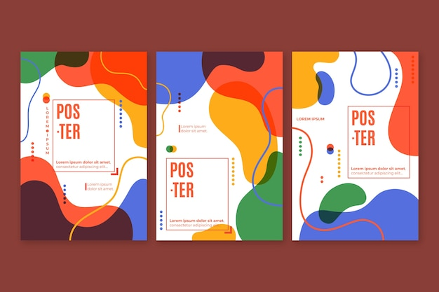 Conception de collection de couverture colorée abstraite