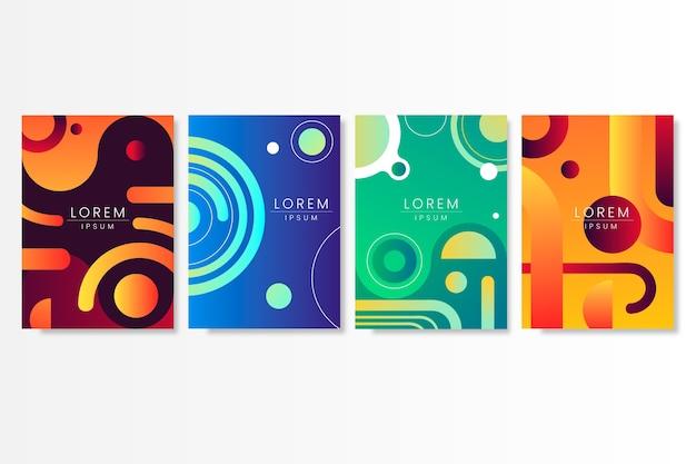 Conception de collection de couvertures de formes dégradées abstraites